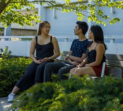 students-talking-on-campus