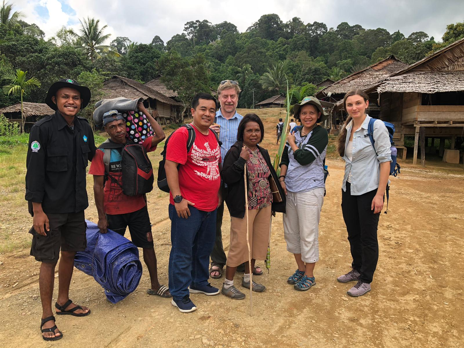 Boedhihartono and team in Huaulu village, Maluku, Indonesia