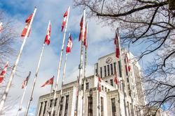 city council canada flags
