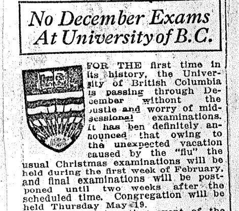 The flu disrupted winter exam season.