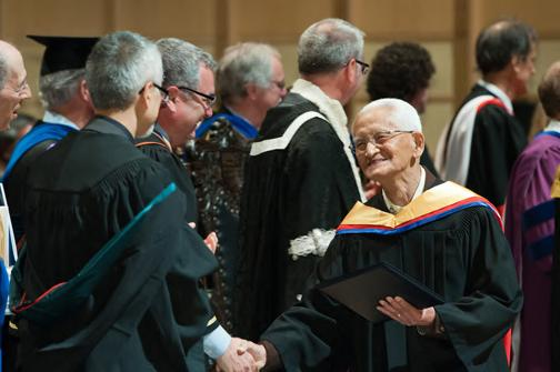 UBC awarded honourary degrees to all the students who had been forced to leave in 1942.