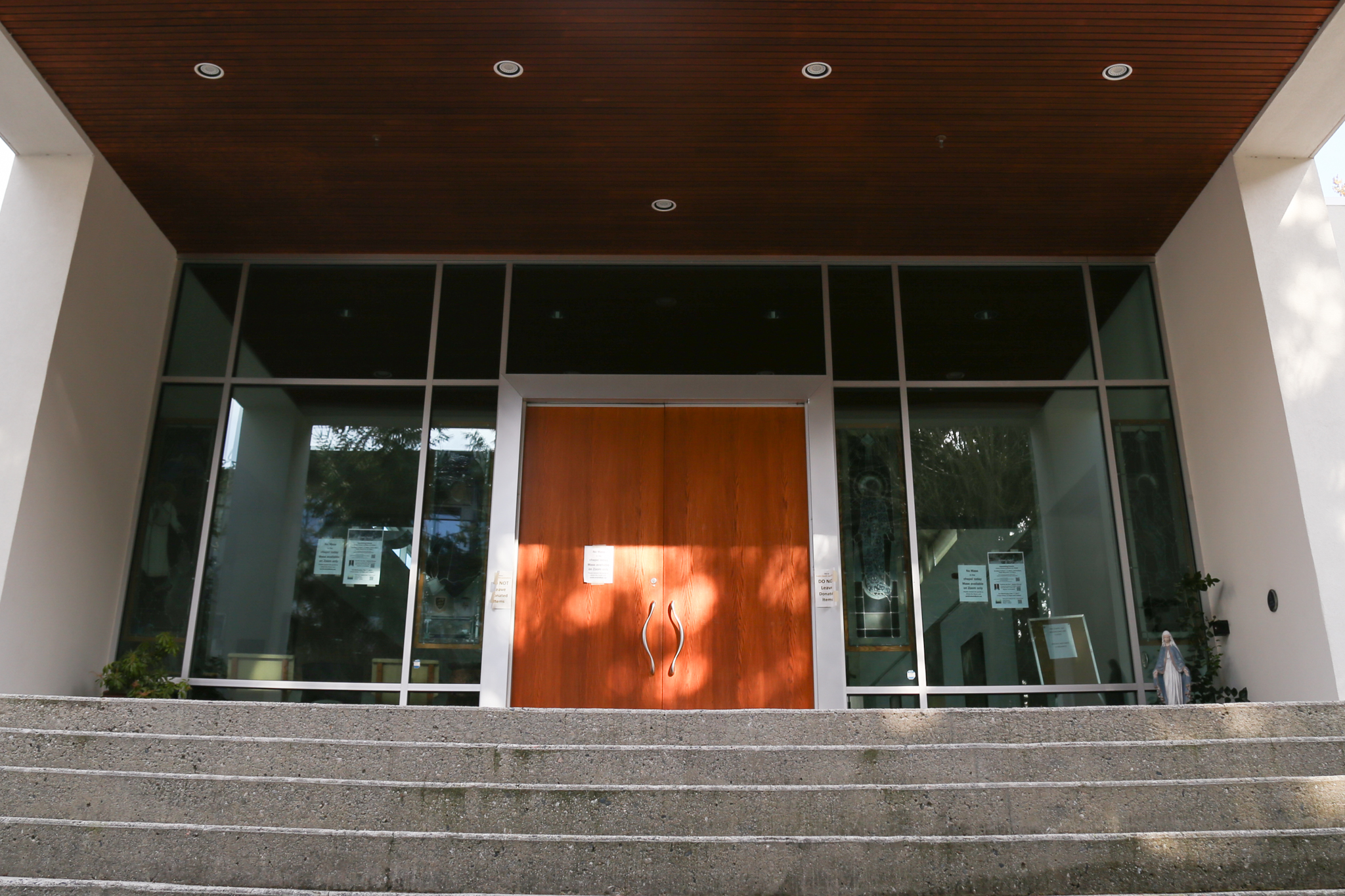 The entrance to St. Mark's Parish at UBC.