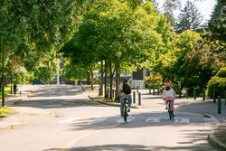 biking along crescent rd