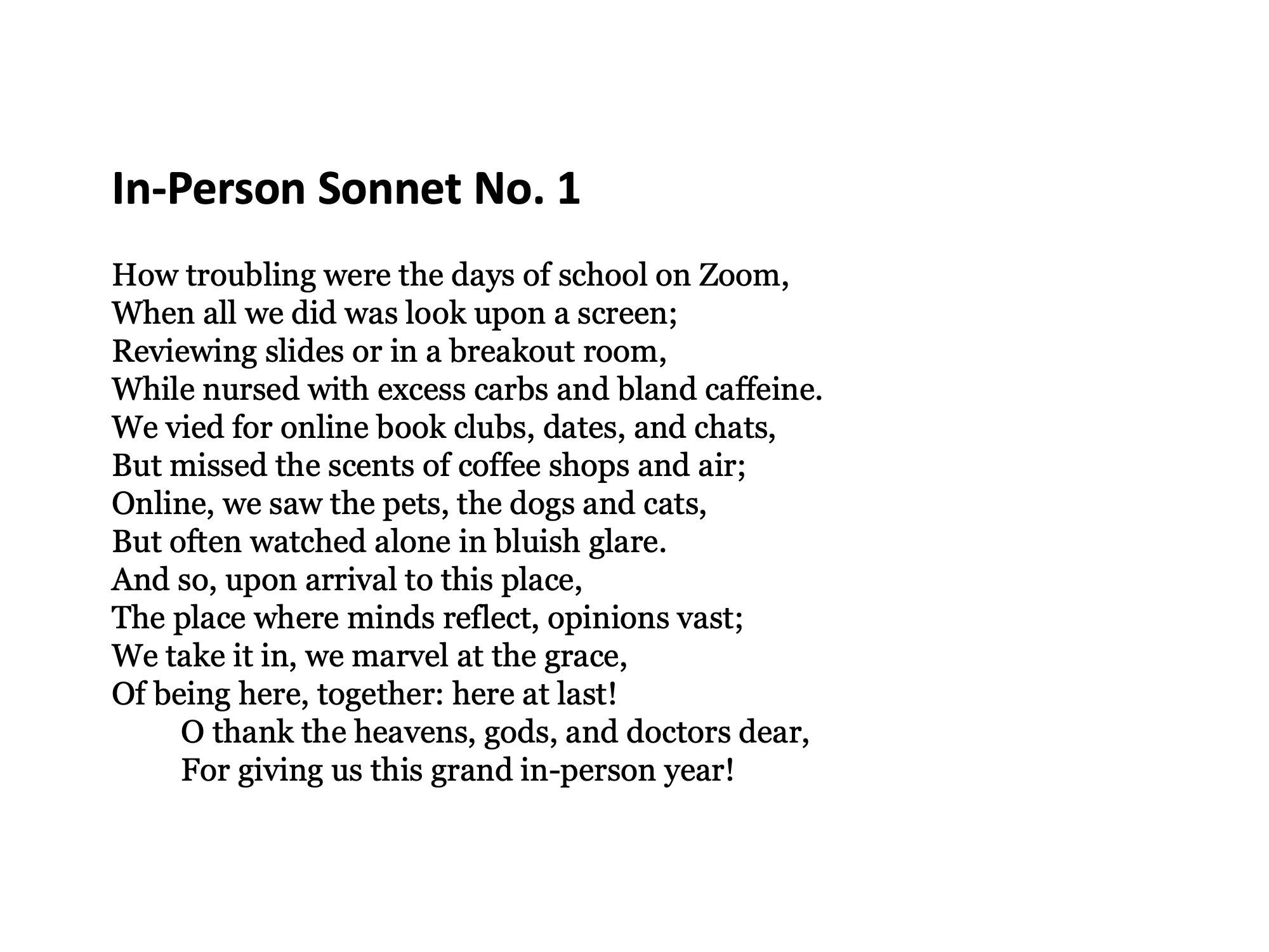 Sonnet 1.